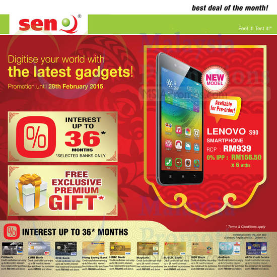 Featured image for SenQ Smartphones, Digital Cameras & Other Offers 1 - 28 Feb 2015