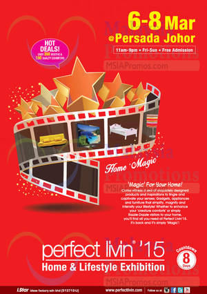 Featured image for Perfect Livin' Home & Lifestyle Exhibition @ Persada Johor 6 – 8 Mar 2015