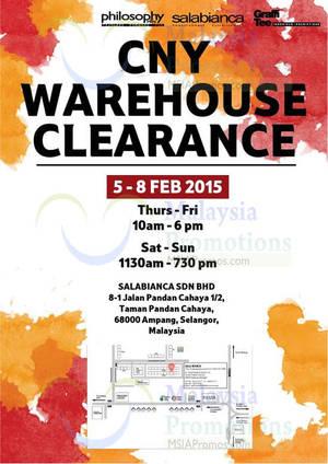 Featured image for Salabianca, Philosophy Men & Graffi Tee Warehouse Clearance SALE @ Ampang Selangor 5 – 8 Feb 2015