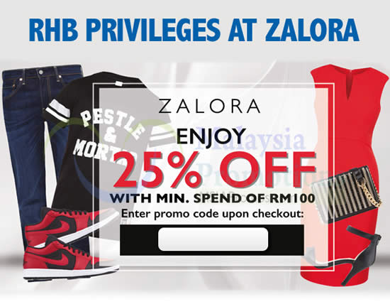 Zalora 25 Off Storewide Coupon Code No Min Spend For Rhb Cardmembers 1 Feb 30 Apr 2015