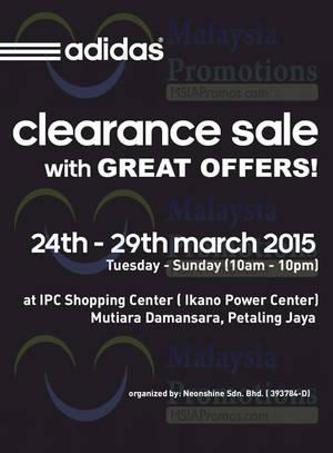 Featured image for Adidas Clearance Sale @ IPC Petaling Jaya 24 – 29 Mar 2015