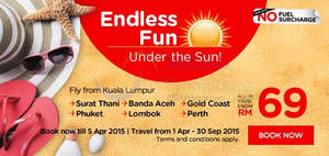 Featured image for Air Asia From RM69 (all-in) Promo Fares 30 Mar – 5 Apr 2015