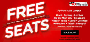 Featured image for Air Asia FREE Seats Promotion 23 – 29 Mar 2015