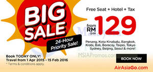 Featured image for Air Asia Go Book Hotel & Get FREE Flight Seat 22 – 29 Mar 2015