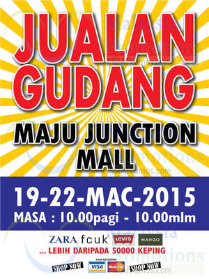 Featured image for Big Brand Fashion Branded Apparel Warehouse Sale @ Maju Junction 19 – 22 Mar 2015