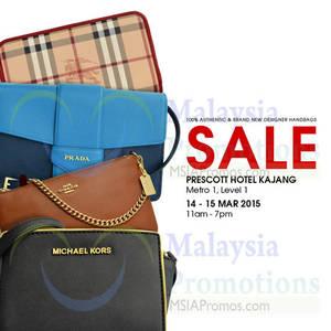 Featured image for Celebrity Wearhouz Designer Handbags Sale @ Prescott Hotel Kajang 14 – 15 Mar 2015