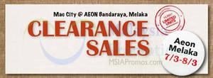Featured image for Mac City Apple Products Clearance Sale @ AEON Bandaraya Melaka 7 – 8 Mar 2015