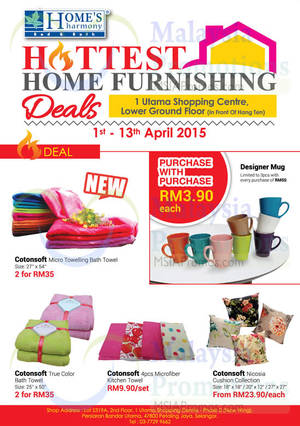 Featured image for Home's Harmony Home Furnishing Deals @ 1 Utama 1 – 13 Apr 2015