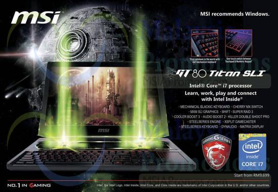 MSI GT80 Titan SLI Notebook 22 Mar 2015