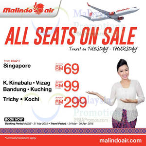 Featured image for Malindo Air Seats Sale 23 – 31 Mar 2015