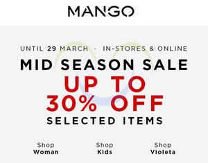 Featured image for Mango Mid Season Sale 21 – 29 Mar 2015
