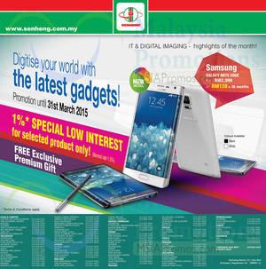 Featured image for Senheng Smartphones, Digital Cameras, Notebooks & Other Offers 1 – 31 Mar 2015