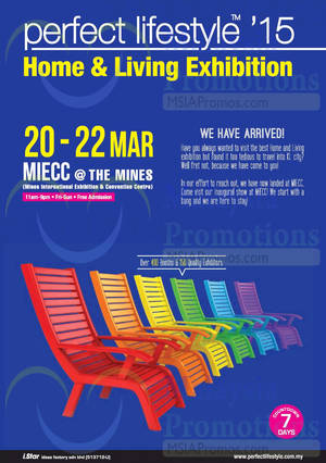 Featured image for Perfect Lifestyle Home & Living Exhibition @ MIECC The Mines 20 – 22 Mar 2015