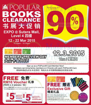 Featured image for Popular Books Clearance @ Sutera Mall JB 12 – 22 Mar 2015