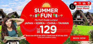 Featured image for Air Asia From RM29 (all-in) Summer Fun Promo Fares 13 – 19 Apr 2015