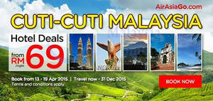 Featured image for Air Asia Go From RM69 Hotel Deals 13 – 19 Apr 2015