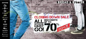 Featured image for Bread & Butter, EVISU & True Religion Closing Down Sale 24 Apr – 24 May 2015