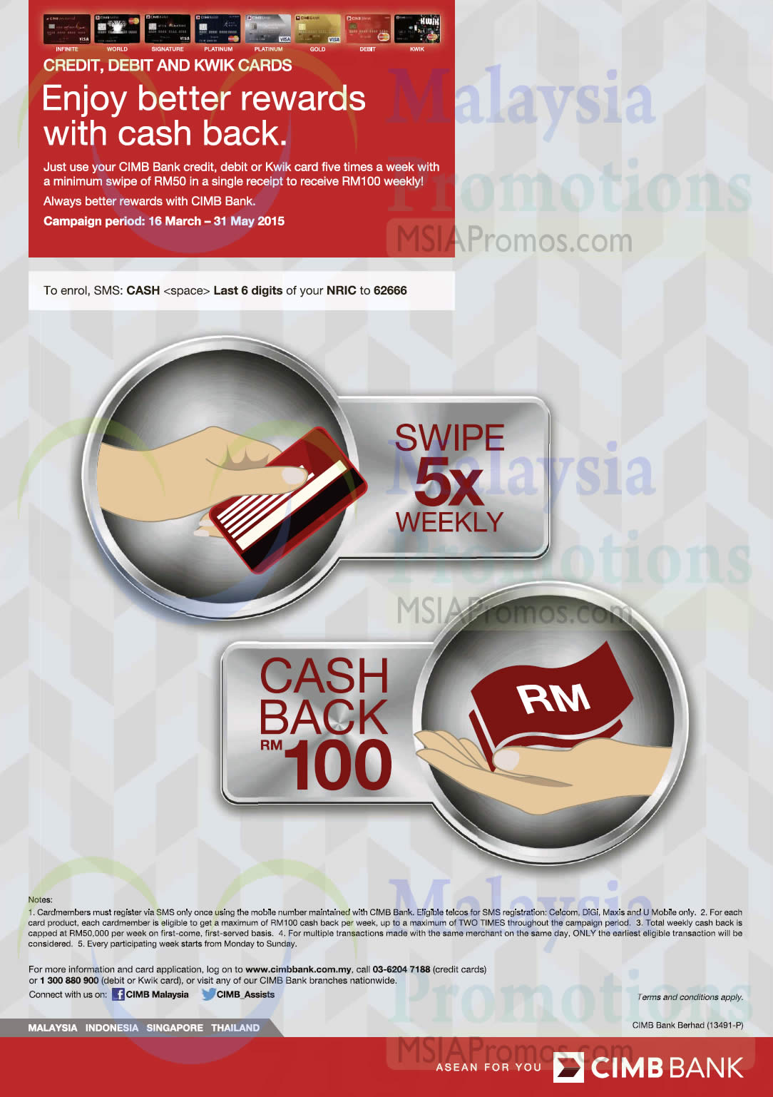 CIMB Cashback Promotion 16 Mar – 31 May 2015