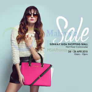 Featured image for Celebrity Wearhouz Designer Handbags Sale @ Sunway Giza 24 – 26 Apr 2015