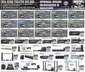 Featured image for Desa Home Theatre Audio Visual TVs, Speakers & More Offers 17 – 19 Apr 2015