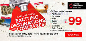 Featured image for Air Asia fr RM29 (all-in) Promo Fares 27 Apr – 3 May 2015