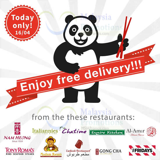 dc2c1a890c1bdc Foodpanda FREE Delivery For Selected Restaurants 1-Day Promo 16 Apr 2015