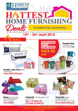 Featured image for Home's Harmony Home Furnishing Deals @ KL Festival City 15 – 26 Apr 2015