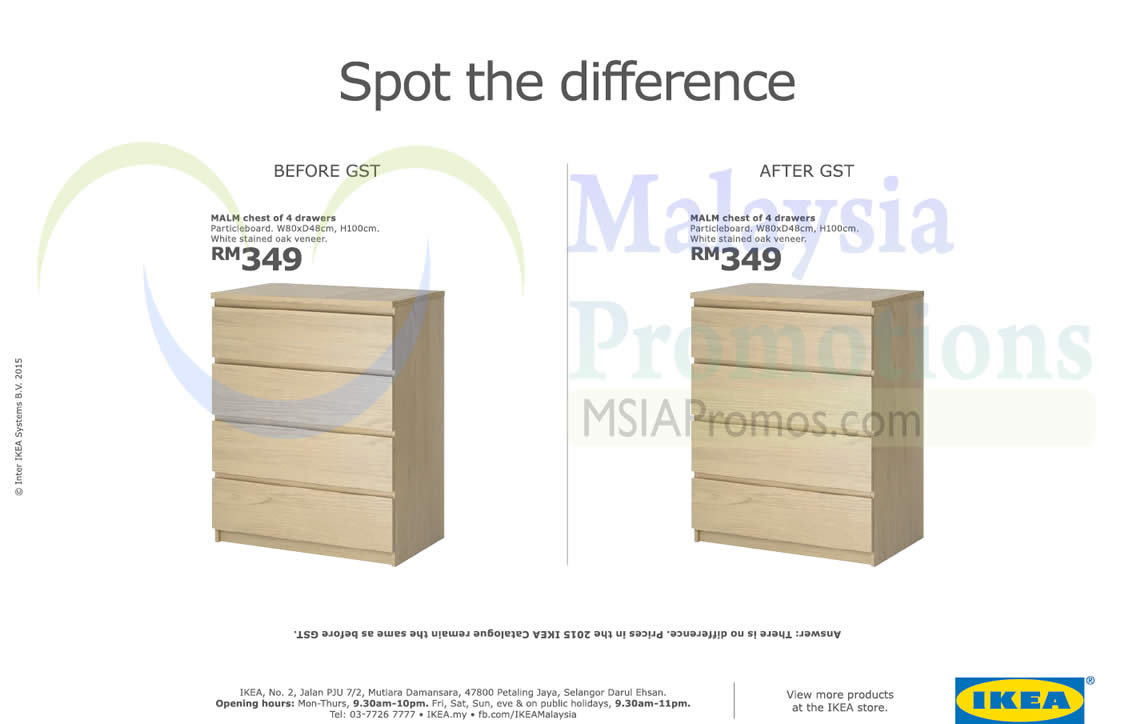 Ikea 1 apr 2015 ikea malaysia absorbs gst charges 1 apr for Does ikea deliver same day