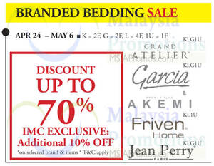Featured image for Isetan Branded Bedding Sale 24 Apr – 6 May 2015