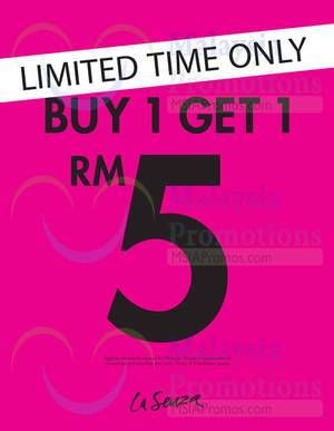 Featured image for La Senza RM5 2nd Piece Promo 29 Apr – 4 May 2015