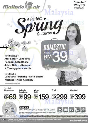 Featured image for Malindo Air From RM39 Promo Fares 2 – 14 Apr 2015