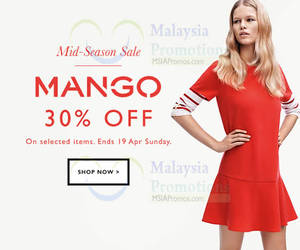 Featured image for Mango Mid Season Sale Online 12 – 19 Apr 2015