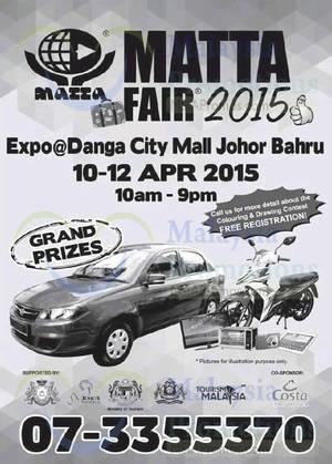 Featured image for Matta Fair @ Expo Danga City Mall Johor Bahru 10 – 12 Apr 2015