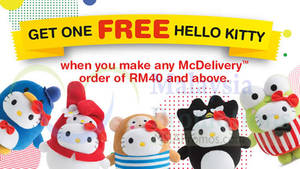 Featured image for McDonald's McDelivery FREE Hello Kitty Promotion 30 Apr 2015