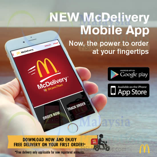 a4491fc94d798d McDonald's FREE Delivery Via McDelivery 7 Apr 2015