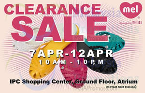 Featured image for Melissa Shoes Clearance Sale @ IPC Shopping Centre 7 – 12 Apr 2015