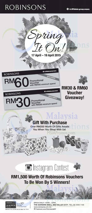 Featured image for Robinsons Spring Voucher Promotion 17 – 19 Apr 2015