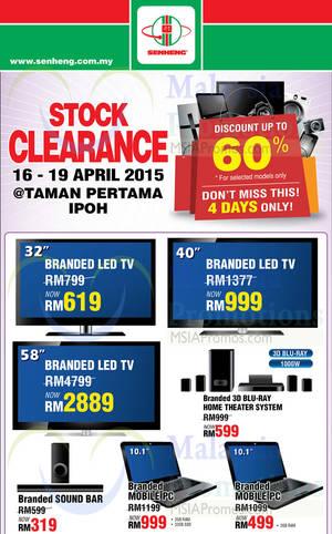 Featured image for Senheng Stock Clearance @ Taman Pertama Ipoh Perak 16 – 19 Apr 2015