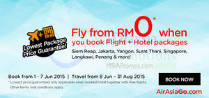 Featured image for Air Asia Go Book Hotel & Fly From RM0 Promo 1 – 7 Jun 2015