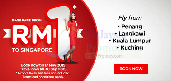 Base Fare From RM1 to Singapore