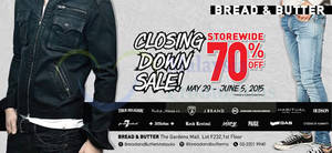 Featured image for Bread & Butter, EVISU & True Religion Closing Down Sale @ Gardens Mall 29 May – 5 Jun 2015