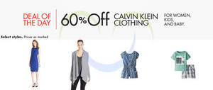 Featured image for Calvin Klein 60% Off Apparel For Women, Kids & Baby 24hr Promo 10 – 11 May 2015