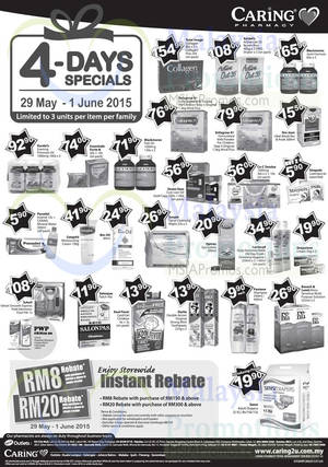 Featured image for Caring Pharmacy RM8 Rebate Promo 29 May – 1 Jun 2015