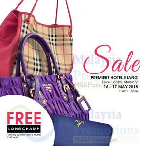 cbbad50177 Celebrity Wearhouz Designer Handbags Sale @ Premiere Hotel Klang 16 – 17  May 2015