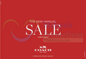 Featured image for Coach Semi-Annual SALE 12 May 2015