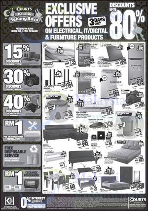 Featured image for Courts Up To 80% Off Specials 30 May – 1 Jun 2015
