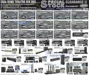 Featured image for Desa Home Theatre Audio Visual TVs, Speakers & More Offers 8 May 2015