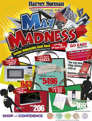 Featured image for Harvey Norman May Madness Offers 11 May – 5 Jun 2015