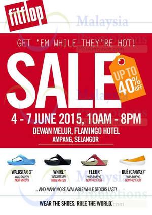 Featured image for Fitflop Sale @ Flamingo Hotel Ampang Selangor 4 – 7 Jun 2015