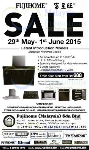 Featured image for Fujihome Display Clearance @ Cheras 29 May – 1 Jun 2015